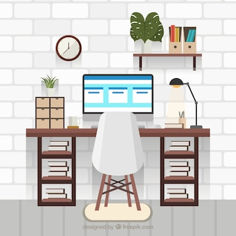Modern office desk with professional style