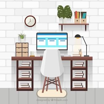 Современный офисный стол с профессиональным стилем