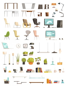 Modern office furniture organizers and accessories