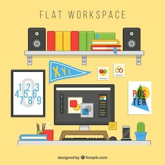 Современный офис с ярким стилем