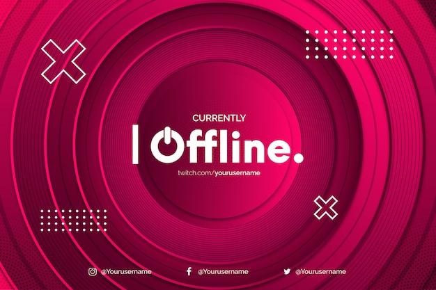 Sfondo di twitch offline moderno con sfondo di cerchio
