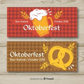Modern oktoberfest banners