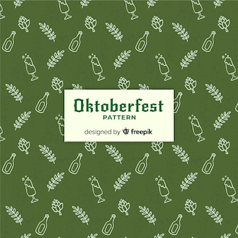 Modern oktoberfest pattern background