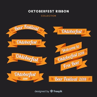 Modern oktoberfest ribbon collection