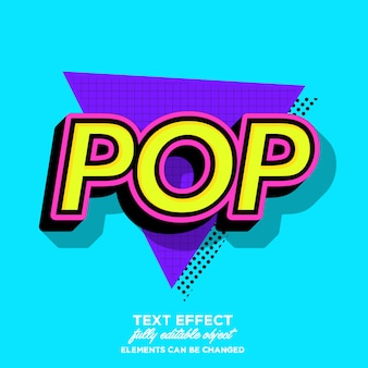 Modern old pop art font effect