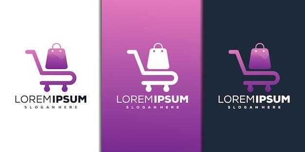 モダンなオンラインショップのロゴデザイン