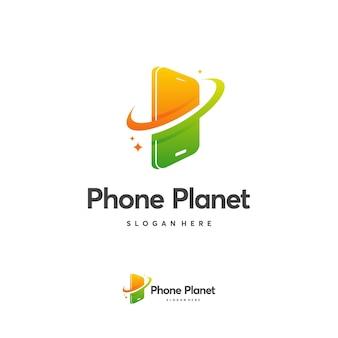 Modern online shop logo designs template, digital shop logo vector illustration