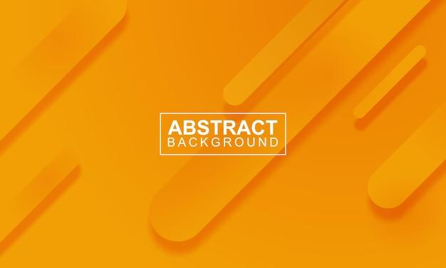미니멀한 둥근 줄무늬가 있는 현대적인 오렌지 배너 배경. 벡터 일러스트 레이 션.