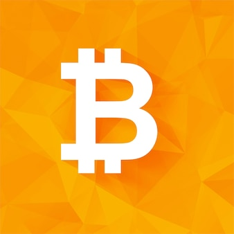 Modern orange bitcoin background