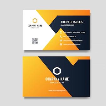 Modern orange business card