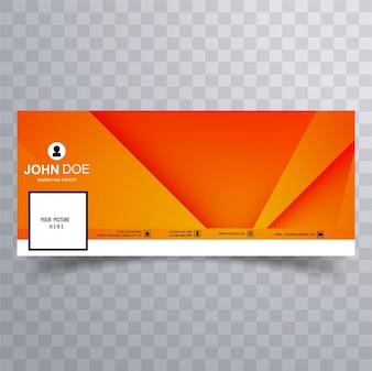 Modern orange facebook banner
