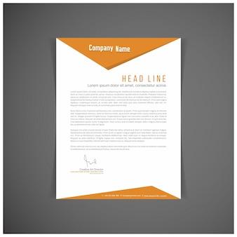 Modern orange letterhead