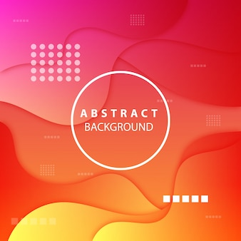 Modern orange and pink background of abstract shapes
