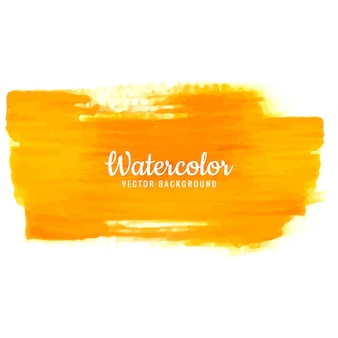 Modern orange watercolor stroke background
