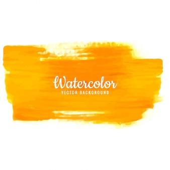 Modern orange watercolor stroke background