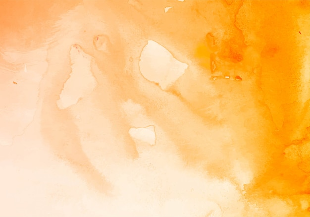Modern orange watercolor texture background