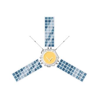 Modern orbital satellite isolated icon