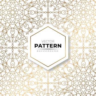 Modern ornate floral gold pattern texture background