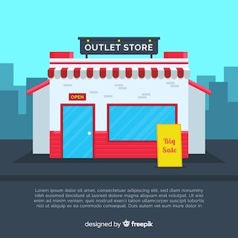 Modern outlet composition with flat design