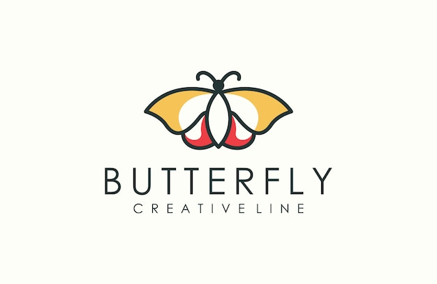 Modern outline butterfly logo