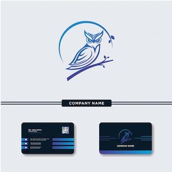 Modern Owl Logo Vector Template