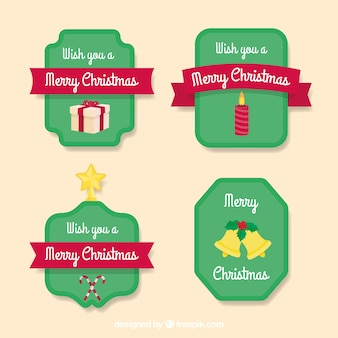 Modern pack of chrsitmas labels