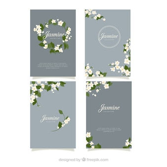 Modern pack of elegnat jasmine cards