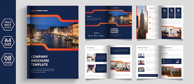 Modern pages business brochure design