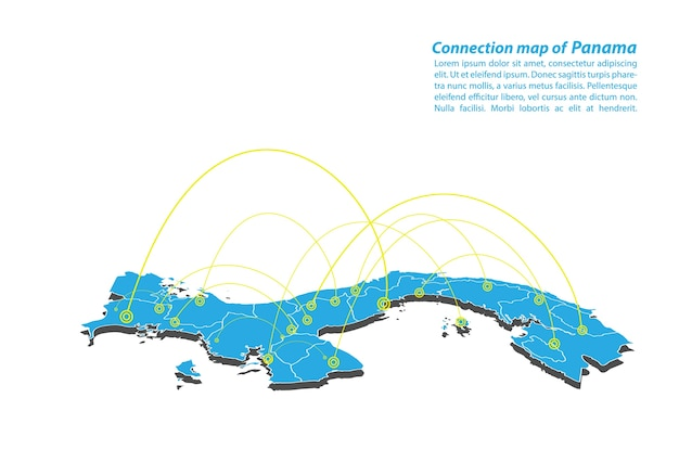 Modern of panama map connections network design