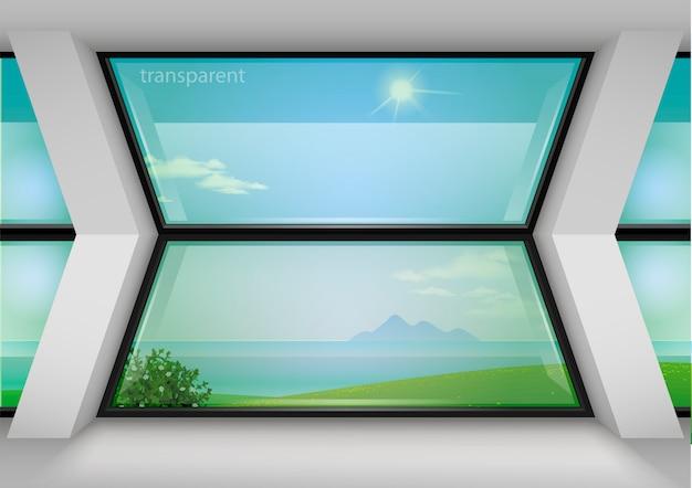 호텔의 현대적인 파노라마 창