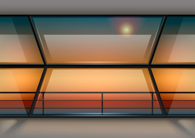 Modern panoramic window