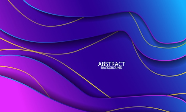 Modern paper cut abstract background with fluid gradient colors