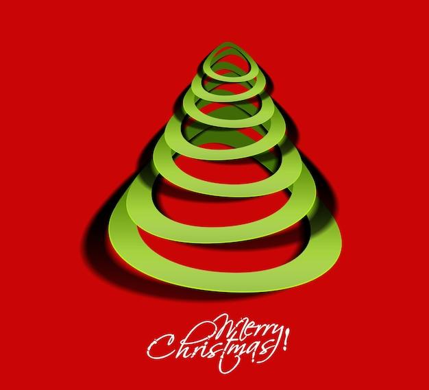 현대 종이 잘라 크리스마스 트리 배경, 벡터 일러스트 레이 션.