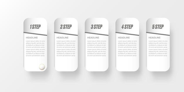 현대 종이 스타일 infographic 배너 디자인 tenplate