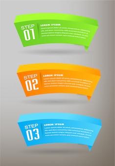 현대 종이 텍스트 상자 템플릿, 3d 연설 거품 배너 infographic