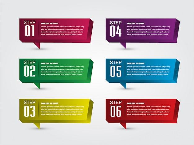 Modern paper text box template, 3d speech bubble banner infographic