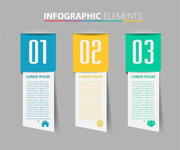현대 종이 텍스트 상자 템플릿, 배너 infographic