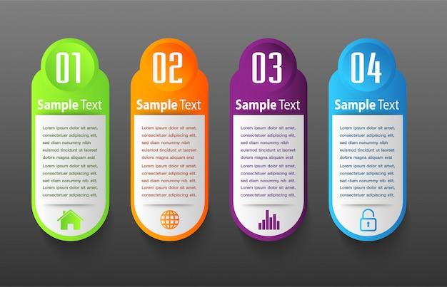 Шаблон текстового поля современной бумаги, баннер инфографики