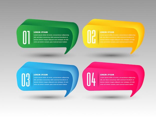 Современная бумага текстовое поле шаблон, баннер речи пузырь инфографики