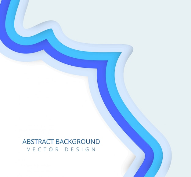 Modern papercut smooth wave vector