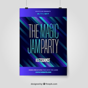 Modern party poster with abstract style