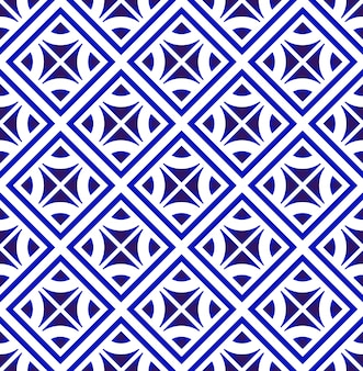 Modern pattern blue and white
