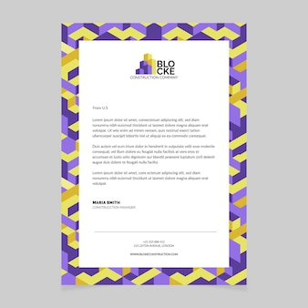 Modern pattern construction cover letter