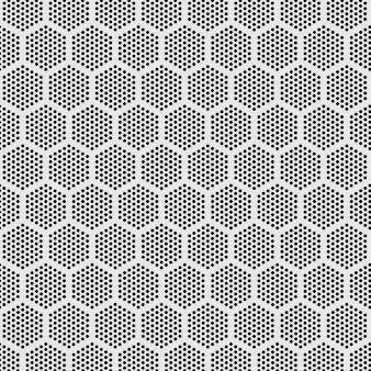 シームレスなモダンパターン六角形ドット