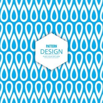 青と白の色のモダンパターン