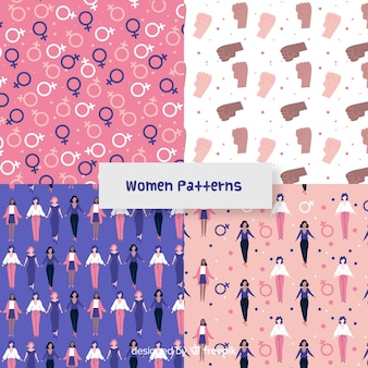 Modern pattern of international group of women