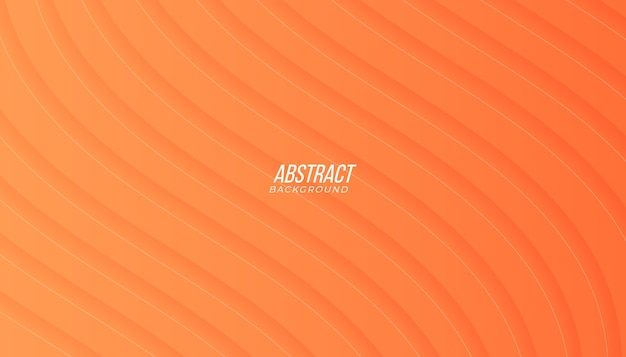 Modern peach orange gradient abstract background with waves