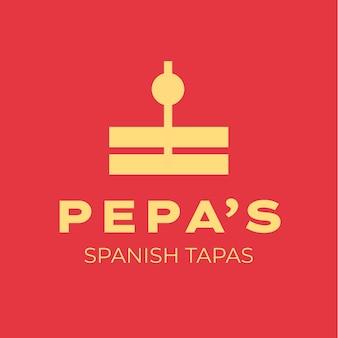 Il moderno logo delle tapas spagnole di pepa