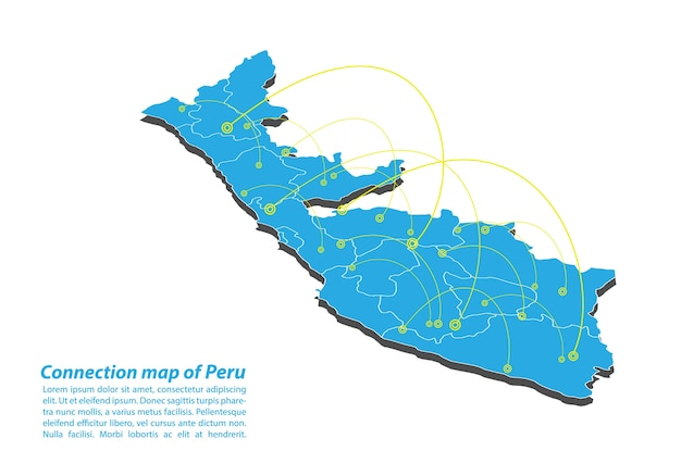 Modern of peru map connections network design
