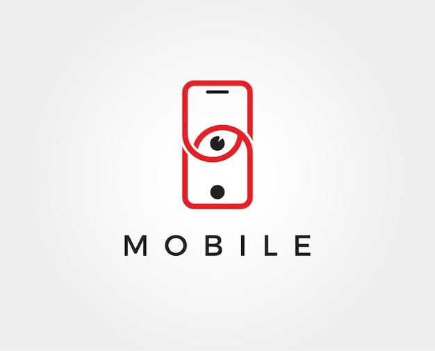 Современный телефон booster логотип с символом ракеты элегантный быстрый телефон логотип шаблон вектор Premium векторы